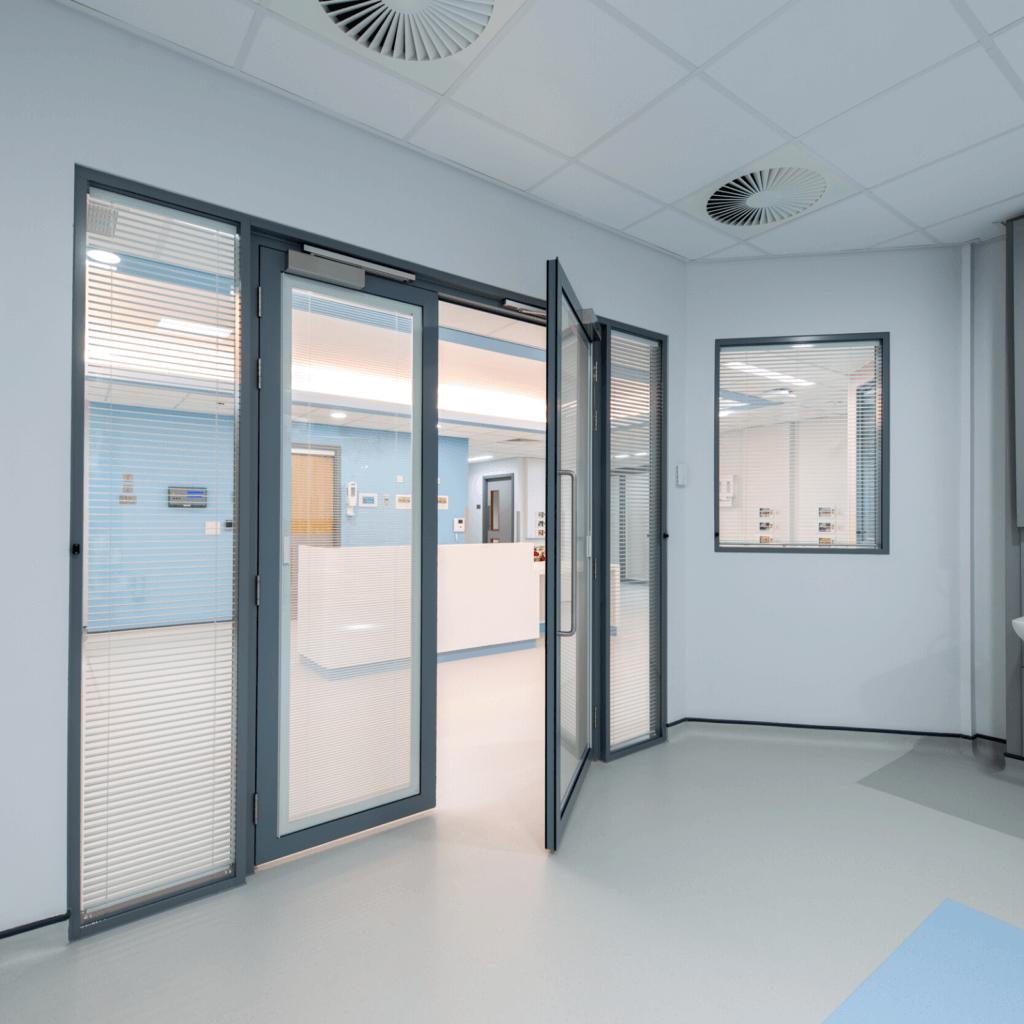 Royal Preston Hopsital Critical Care Unit partitions for JCS Interiors