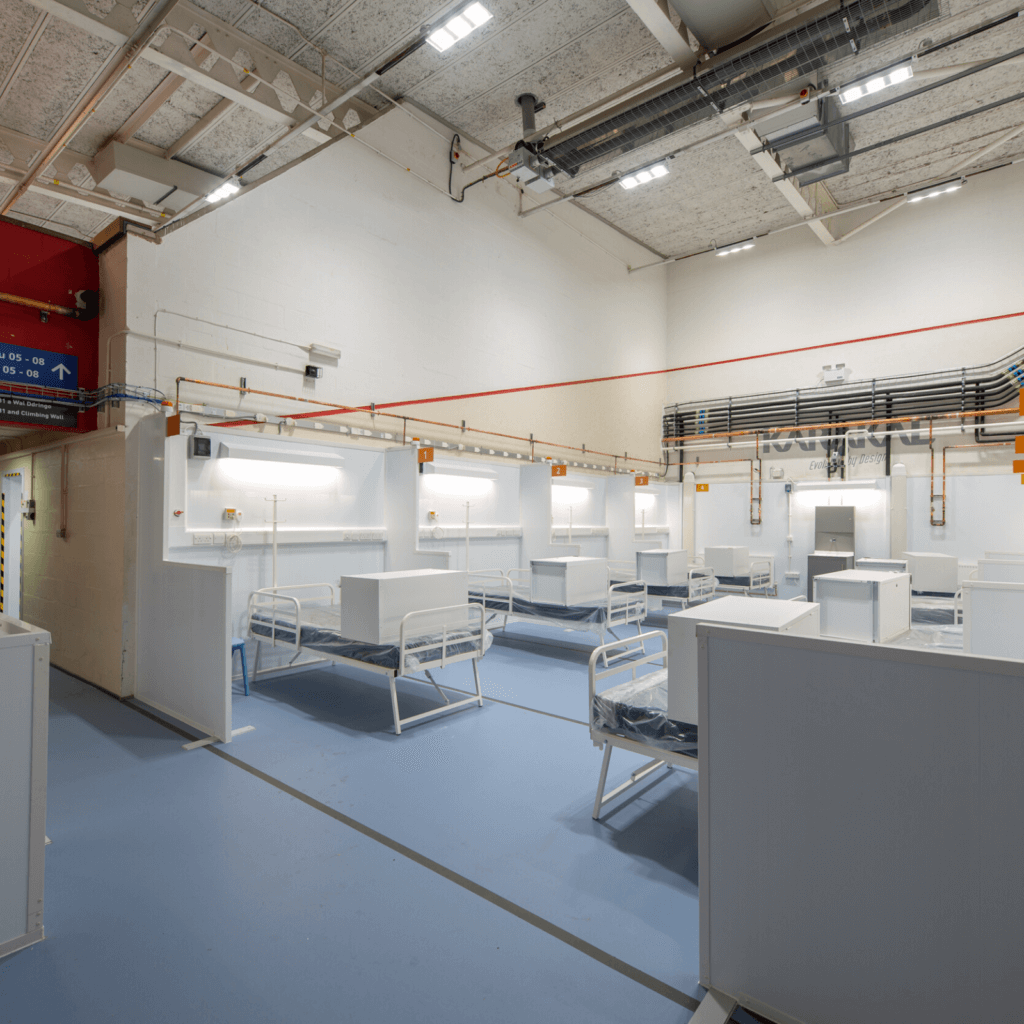 Bangor Nightingale hospital for drylining and suspended ceiling specialists, JCS
